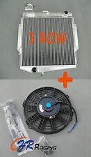 1966-1970 Datsun Roadster Fairlady 3 ROW Aluminum Radiator & FAN 66 67 68 69 70
