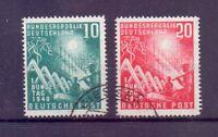 Bund 1949 - Erster Bundestag MiNr 111/112 rund gestempelt - Michel 45,00 € (687)