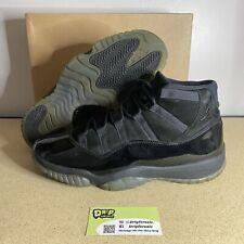 Nike Air Jordan XI 11 Retro Cap and Gown Triple Black Size 12 378037-005
