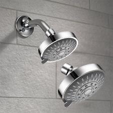Shower Head High Pressure 4 Inch 5-setting Adjustable Shower Head Top Spray Bath