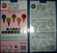 WILTON HAPPY BIRTHDAY PICKS CAKE DECORATIONS CHOCOLATE MOULD