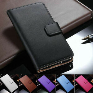 For Samsung Galaxy A20 A30 A50 A70 Genuine Leather Flip Wallet Case Cover