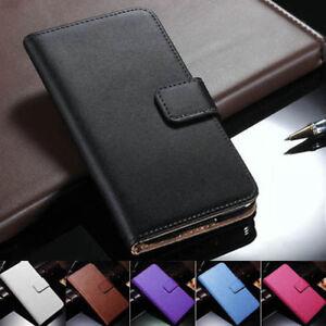Samsung Galaxy S20 S10/Plus/S10e S9/8/7 Genuine Leather Flip Wallet Case Cover