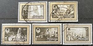 Wholesale LOT- Malaysia 1977 Tun Hj Abdul Razak set of 3 x 10 Fine used