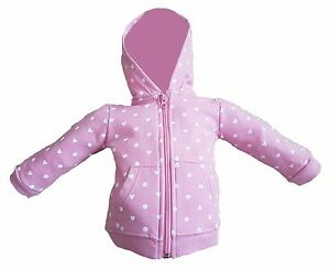 Baby girls pink zip hoody in ages 3 to 24 months Made of 100% cotton free P&P