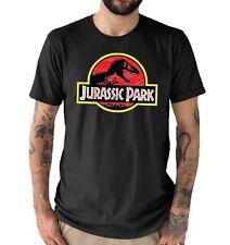 Jurassic Park Distressed Classic screen printed Mens T shirt Black All sizes