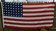 "Original WW2 WWII US Philadelphia QM Depot 48 Star Flag 5'x9' 6"" Burial Casket"