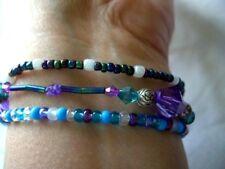 Bead Bracelets x 3  elasticated & clasp type / festival.Handmade