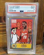 2003/04 Topps Bazooka Lebron James RC Rookie Card #276 Rare Gold SSP Card PSA 9