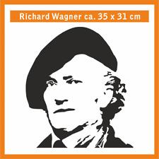 RICHARD WAGNER Wandtatoo, ca. 35 x 31 cm, Hochleistungsfolie mit Montagepapier