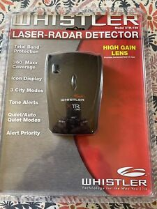 Whistler XTR130 Radar Detector With Power Adapter And Windshield  Mount Bracket
