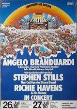 SUMMERTIME DREAM - 1980 - Konzertplakat - Branduardi - Richie Havens - Stills