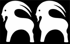 Backcountry Outdoors Vinyl Sticker Decal x 2 Small