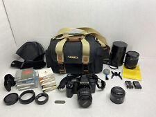 Camera Minolta Maxxum 5000i with Film Bag & Zoom Lens & Accessories