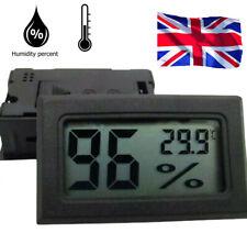 LCD Digital Interior Reloj de temperatura ambiente Termometro Higrometro Medidor de Humedad