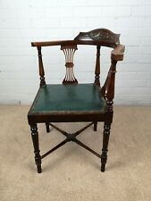 An Antique Edwardian Carved Mahogany Corner Chair