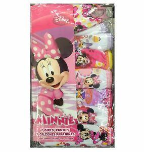 Disney's Minnie Mouse Toddler 7-pk. Panties - Missing Original Pkg