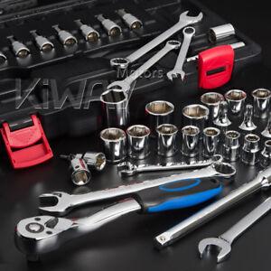 "KiWAV 40pcs maintenance tool kit SAE 3/8"" drive wrench fits Harley motorcycle ε"