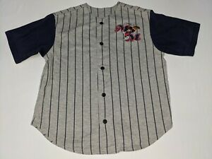 Mickey Mouse Boys Size M Embroidered Baseball Jersey Disney Store GUC