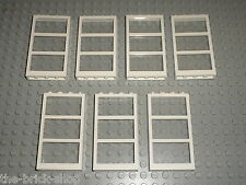 7 x LEGO Window 57894 + clear glass 57895 / Set 3188 41037 41095 4996 41135 7632