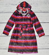 DANEFAE Women's Damen Full Zip Hoodie Cotton Coat Regenmantel with Belt ! size M