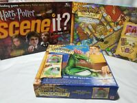 Lot (3) Harry Potter Games: Diagon Alley, Scene It? and Snake Bites Candy Maker