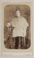 Ecclesiastico Da Bonvalot Arbois Francia Foto CDV PL52L3n25 Vintage Albumina