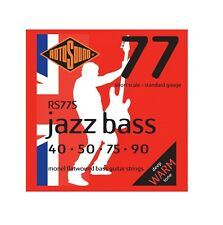 Rotosound RS77S Jazz Bass Short Scale Monel Flatwound Electric Bass 4 String ...