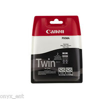 Genuino Canon pgi-525 Twin Negro Cartucho De Tinta Pixma ip4950 ip4850 ix6550 MG5150