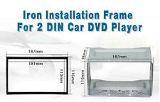 Universal 2 Din starkes Metall Autoradio Einbaurahmen Einbau Rahmen fitting cage