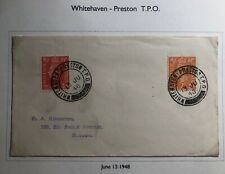 1948 Whitehaven England Cover Traveling Post Office Tpo To Slough