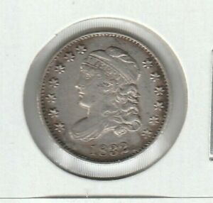 1832 LM-2 R-3 Capped Bust Very Fine VF Silver US Half Dime H10C