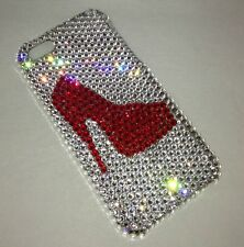Heel Shoe Crystal BLING BACK CASE FOR IPHONE 6s 6 PLUS Made W/ Swarovski ELEMENT