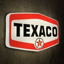 TEXACO LED ILLUMINATED LIGHT BOX WALL SIGN GARAGE OIL GAS STATION AUTOMOBILIA