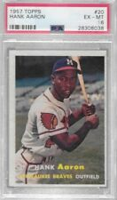 HANK AARON 1957 Topps Baseball #20 PSA 6 EX-MT - MILWAUKEE BRAVES