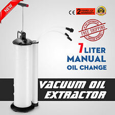 Oil Fluid Extractor 7L Manual Vacuum Fuel Petrol Pump Transfer Syphon Suction US