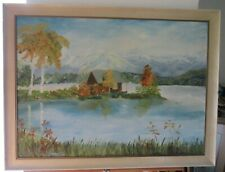 LARGE LANDSCAPE OIL ON BOARD PAINTING SIGNED MARY BRITTAIN