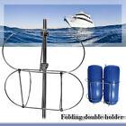 304 Stainless Folding Double Dual Fender Holder Rack For 9-1/2 inch Boat Fenders