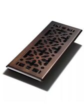 Decor Grates AGH412-RB 4-Inch by 12-Inch Gothic Bronze Steel Floor Register, New