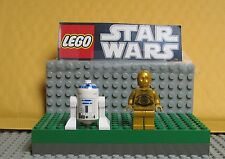 "STAR WARS LEGO  LOT  MINI FIGURE--MINI FIG ""  R2-D2  & C-3PO (DARK GOLD)--#1"