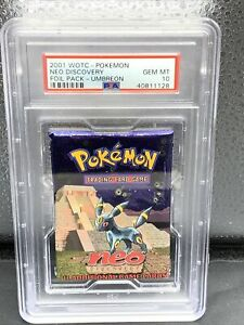 2001 Pokemon Neo Discovery Booster Pack Umbreon - PSA 10