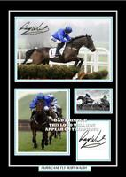 (##80) ruby walsh hurricane fly signed a4 photograph (reprint) horse racing gift