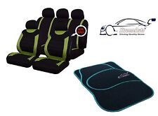9 PCE Sports Carnaby Green/ Black CAR Seat Covers + Matching Mat Set For MG