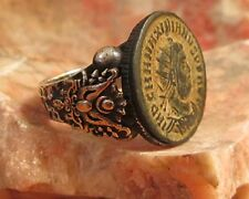 Ancient Authentic Roman Coin  Men's Ring