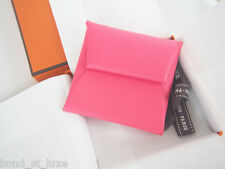 NEW Authentic Hermes Bastia Epsom Rose Azalee Pink Coin Purse Holder