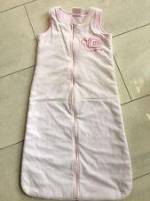 Schlafsack ~ Impidimpi, Baby 👶 90 cm, Nicki/Velour, rosa/weiß gestreift