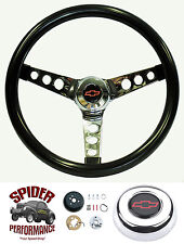 "1975-1994 Chevy pickup steering wheel BOWTIE 13 1/2"" GLOSSY GRIP steering wheel"