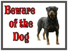 Rottweiler Beware of the Dog Design Metall Türschild