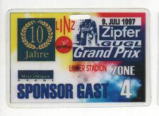 Orig.Ticket    Leichtathletik Grand Prix LINZ (Österreich) 1997 - SPONSOR GAST !