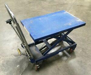 """Industrial Rolling Scissor Lift Cart / 27 5/8""""L x 17 3/4""""W"""